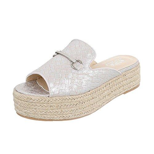 Ital-Design - zapatillas de baile (jazz y contemporáneo) Mujer Silber LT912S
