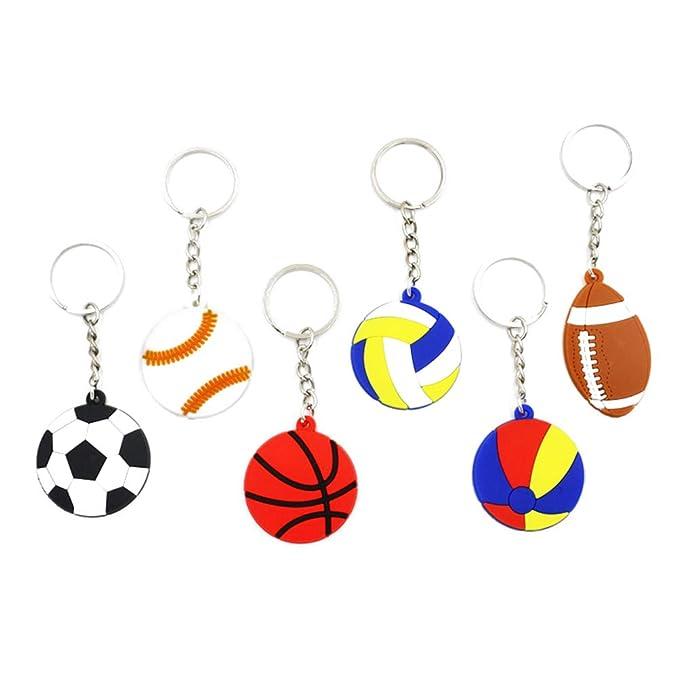 Toyvian Llaveros creativos PVC Fútbol Baloncesto Voleibol ...