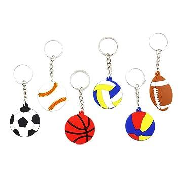 STOBOK Novedad Sport Ball Llaveros PVC Fútbol Baloncesto ...