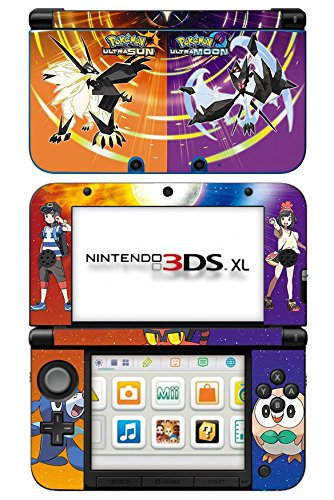 Pokemon Ultra Sun and Ultra Moon Game Skin for Nintendo 3DS XL Console 100% Satisfaction Guarantee!