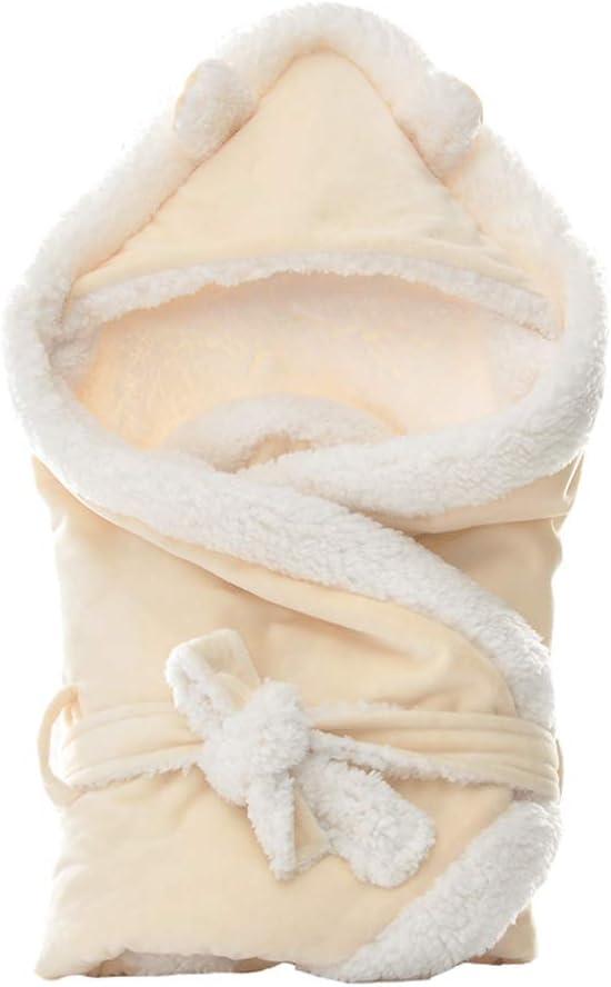 Winter Warm Baby Kapuze Wrap Schlafsack Swaddle 0-12 Monat Baby Schlafs/äcke Babydecke Jungen M/ädchen Einschlagdecke f/ür Autositz Kinderwagen Asudaro Babywickeldecke Neugeborene Decke Pucksack