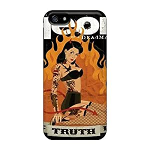 Rugged Skin Case Cover For Iphone 5/5s- Eco-friendly Packaging(the Truth Is)