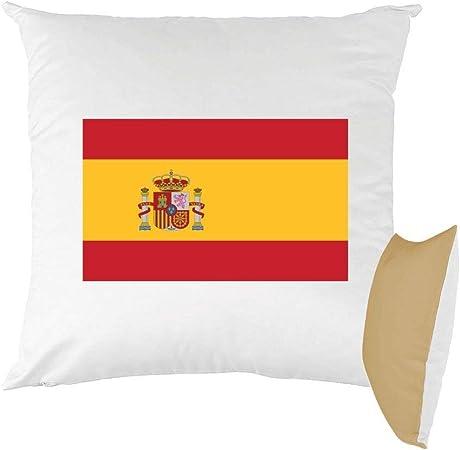 Mygoodprice cojín Bicolor Estampado 40 x 40 cm Bandera España: Amazon.es: Hogar