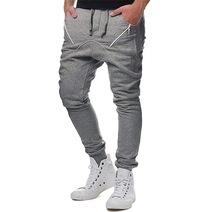 9eeaa170b Pantalones para Hombres Elásticos Atados Hombres Pantalones Casuales ...