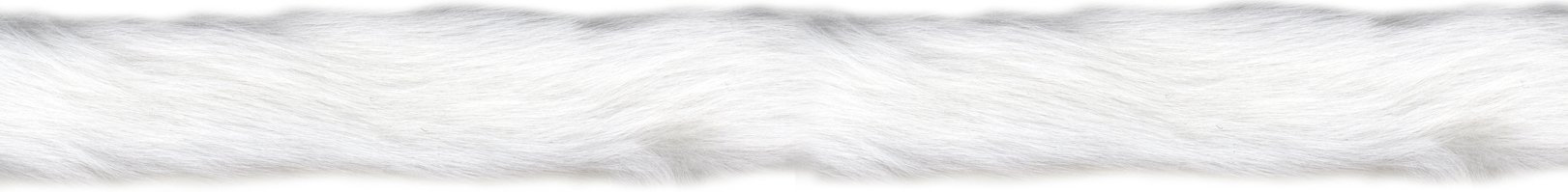 Fur Trim 1'' Wide 10 Yards-White by Wright Products