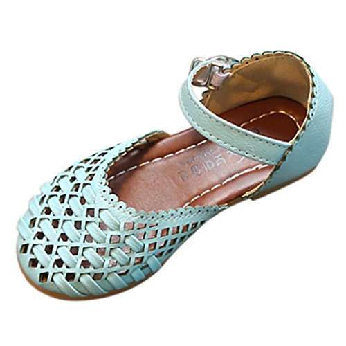 Jamicy® Mädchen Schuhe, Baby Prinzessin Girls Fashion Hohl Leder Casual  Sandalen Schuhe Blau