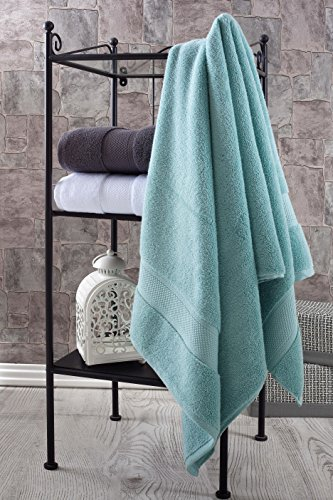 Bagno Milano Luxury Hotel & Spa Collection Turkish Cotton Large Hand Towel Set of 4, (Green) Super Soft and Ultra Absorbent Turkish Towel by Bagno Milano (Image #3)