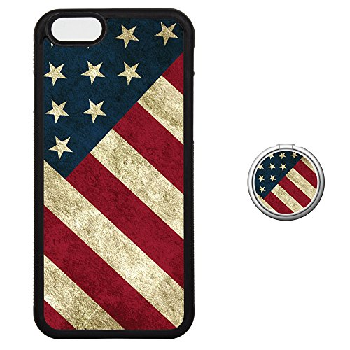 - Case for iPhone 6 6S Plus with Finger Ring Holder Set, 180?? Flip 360??Rotation Grip Kickstand Work on Magnetic Car Universal Cell Phone Stand Skin Cover for i6 i6S - USA Star-Spangled Banner