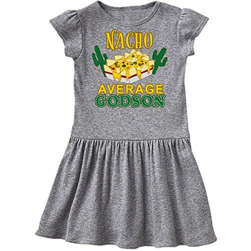 inktastic Nacho Average Godson with Nachos Infant Dress 6 Months Heather Grey