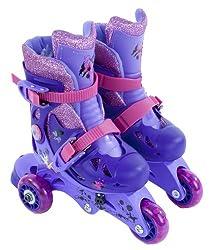 Disney Fairies Kid's Convertible 2-in-1 Skate, Junior Size 6-9