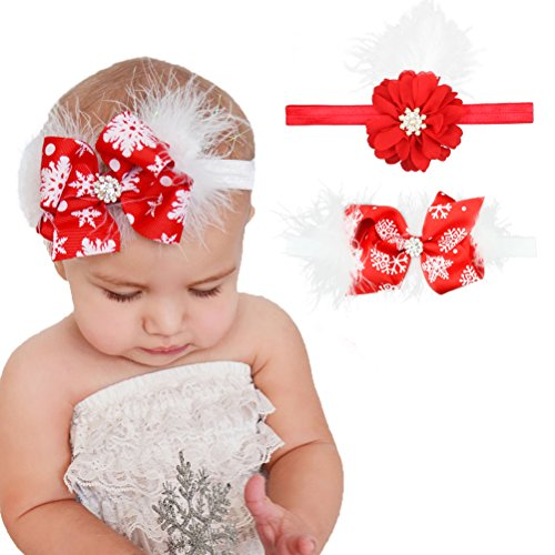 habibee-2-packs-baby-girls-headbands-christmas-hair-bows-bands-for-girl-feather-and-flower-hair-acce