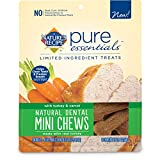 Nature's Recipe Pure Essentials Natural Dental Mini Chews with Turkey and Carrot Dog Treats, 12.7-Ounce