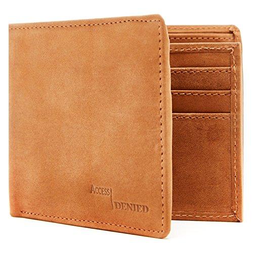 Genuine Leather Wallets Men Blocking