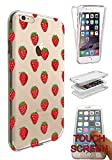 """c01113 - Cool Red Strawberries Wallpaper Wimbledon Summer Fruit Design iphone 7 Plus 5.5"""" Fashion Trend CASE Gel Rubber Silicone Complete 360 Degrees Protection Flip Case Cover"""