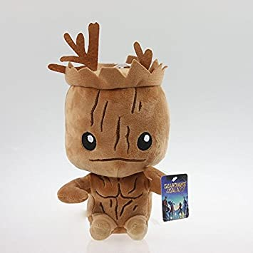 Brinquedos Marvel Peluches Anime Superhero Guardians of the Galaxy 20cm Groot Plush Toys Dolls With Original