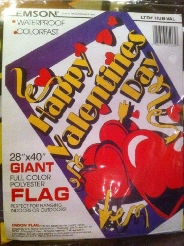 Happy Valentines Day Flag 28″ x 40″ full color polyester Review