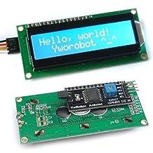 Puuli IIC/I2C/TWI/SPI Serial Interface 1602 16X2 Character LCD Modul Display Blue