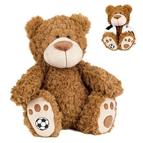 Buddy Balls Plush Teddy Bear Convertible Toy Soccer Ball-Vic, Brown/Black/White ()