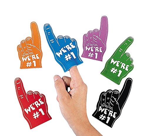 Foam Mini Fingers (1 dz) by Fun (1 Foam Finger)