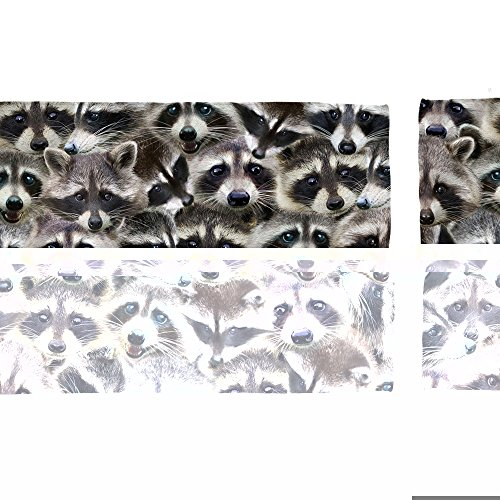Racoons Beach Towel White - Racoon Picture Of