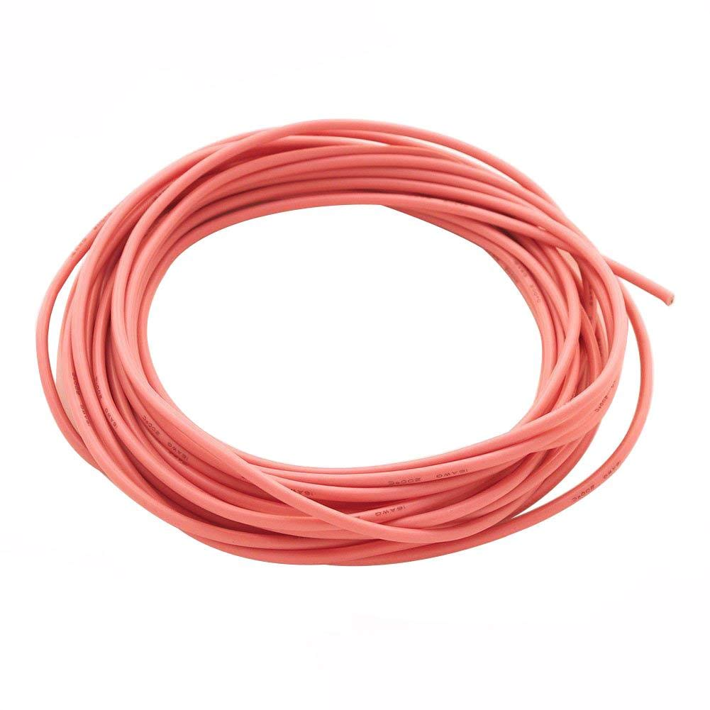 BNTECHGO 16 Gauge Silicone Wire Yellow 10 feet 600V High Temperature Resistant [-60 degree Celsius - +200 degree Celsius] Highly Efficient Soft and Flexible 16 AWG Silicone Wire 252 Strands of 0.08mm Tinned Copper Wire [Oxygen Free Copper] bntechgo.com