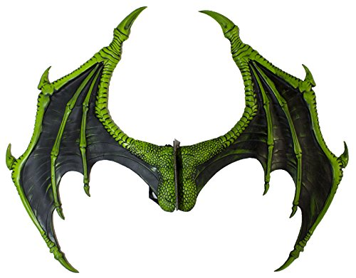 Forum Novelties Men's Medieval Fantasty-Dragon Wings, Green, Standard