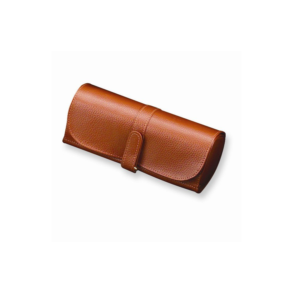 Amazon.com  Best Designer Jewelry Tan Split Grain Leather Jewelry Roll   Jewelry 78f478ca2