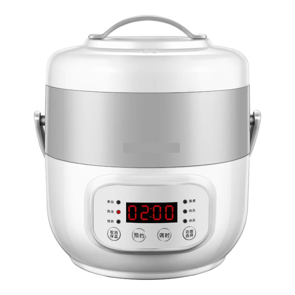 スマート ミニ炊飯器,1-2-3 人がホーム寮小米炊飯器蒸し器電気圧力鍋ポータブル蒸し器を予約できます-グレー 17x16.5x23cm(7x6x9inch) 17x16.5x23cm(7x6x9inch) グレー B07HDQ2W4J