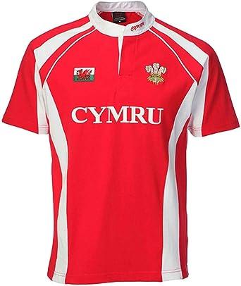 Camiseta de Rugby de la selección galesa, hombre, HR8045, rojo, Small: Amazon.es: Ropa y accesorios