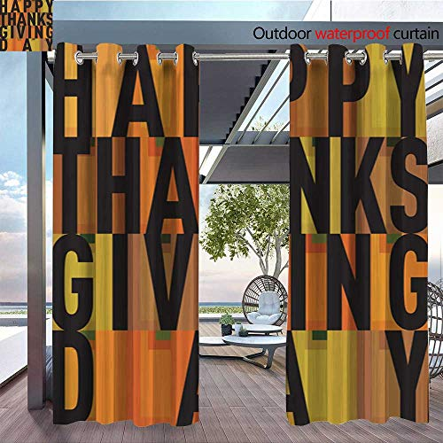 Patio Curtains Vector-thanksgiving-decoration-lettering-postcard-invitation-card-design-harvest-november-background-illustration.jpg Outdoor Curtain for Patio,Outdoor Patio
