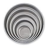 Nordic Ware 45425 Naturals Aluminum Bakeware Layer Cake Pan, Silver