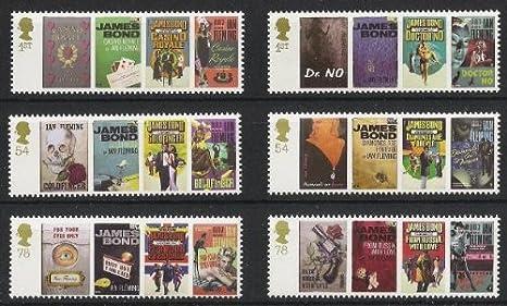 Amazon.com: Ian Fleming's James Bond 007 GB Mint Stamps Set: Toys ...