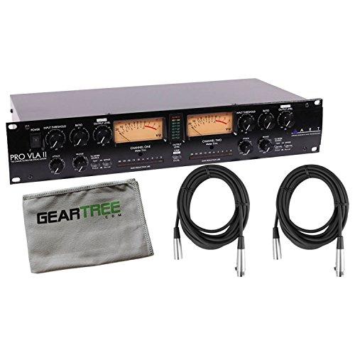 ART Pro VLA II Studio Vactrol Tube Compressor Leveling Amplifier w/Geartree -