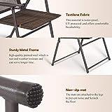Giantex Set of 4 Patio Folding Sling Chairs Steel