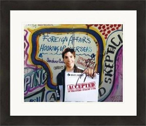 (Justin Long autographed 8x10 photo (Accepted South Harmon Institute of Technology) #NG1 Matted & Framed)