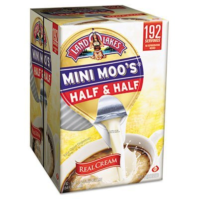 Mini Moo's Half and Half, 192/Carton, Sold as 1 Carton, 192 Each per - Singles Creamer Coffee