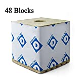 Rockwool Blocks with Hole, 6''x 6''x 6'' Quick Drain Biggie Block, Rock Wool Cubes for Hydroponics, Stonewool Starter Cubes for Cuttings, Cloning, Plant Propagation, and Seed Starting, Case of 48 Sheet