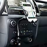 Automotive : Amoner 3-In-1 Cigarette Lighter Car Mount Charger Phone Holder with Dual USB 2.1A Charger for iPhone X 8 8 Plus 7 7 Plus 6s 5s, Samsung Galaxy S9 S8 S8 Plus S7 Edge, Huawei and More Smartphones
