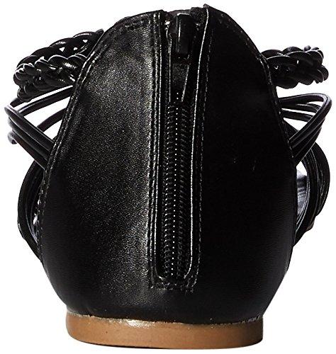 Sandales 482 Femme Noir Lanières à Qupid QupidArcher 6AwqCgx
