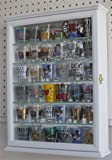 Shot Glass Display Case Wall Curio Cabinet, Glass Door, Solid Wood SCD06B-WH