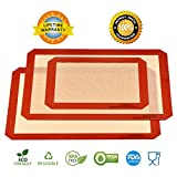 Kyпить Silicone Mats for Baking, Set of 3 Non Stick Silicone Baking Mat 2 Large for Half Sheet Liners (16 1/2 inch x 11 5/8 inch) and 1 Quarter (11 3/4 Inch x 8 1/4 Inch) Draway Heat Resistant Cookie Sheet на Amazon.com