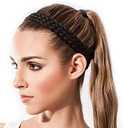 Sternitz Cintas de Pelo Trenzadas - Antiresbalante Yoga - Pilates - Running. Headbands