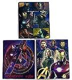 Avengers Infinity War School Supplies Set of 3 Poly Portfolio Folders (3 Prong)