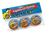 Lightload Towels The Compact Ultra Soft Multi Use Fabric .5 oz Quick Dry Waterproof Packaging Super Absorbent Outdoor Travel Camp 20 3 Packs Wholesale 12x24