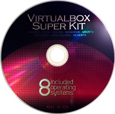 VirtualBox Super Kit VM Software and Operating System Collection for Windows & Mac Fedora, Android, Dos, Open Solaris, Bsd, Nexenta, Mandriva & Setup Guide