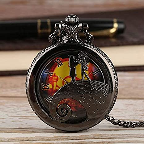 Amazon.com: CHITOP Retro Bronze The Nightmare Before Christmas Pocket Watch Chain Tim Burton Jack Skellington Pendant Gifts relojes de bolsillo: Cell Phones ...