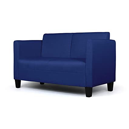 Stupendous Aodailihb Modern Soft Cloth Loveseat Sofa Small Space Configurable Couch Dark Blue Cjindustries Chair Design For Home Cjindustriesco