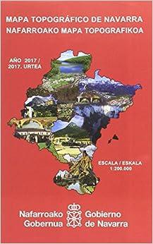 Mapa topográfico de Navarra, E 1:200.000 / Nafarroako mapa topografikoa, E 1:200.000