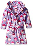 Hatley Girls' Little Fuzzy Fleece Robes, Yummy Cupcakes Small