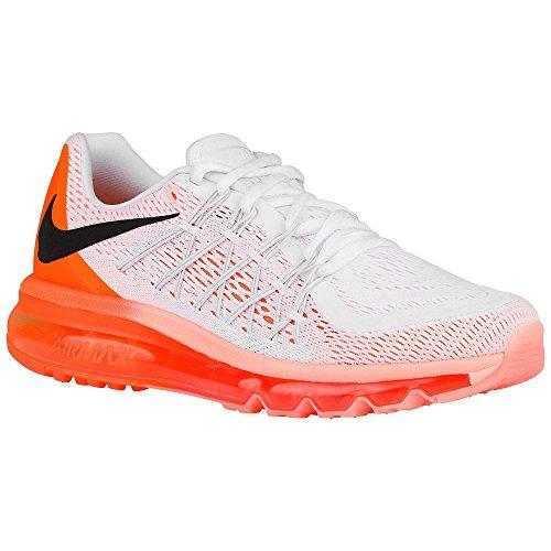 Zapatillas Nike Mujeres Air Max 2015 Blancas / Brillantes Citrus / Sunset Glow / Black Mesh 6 M Us